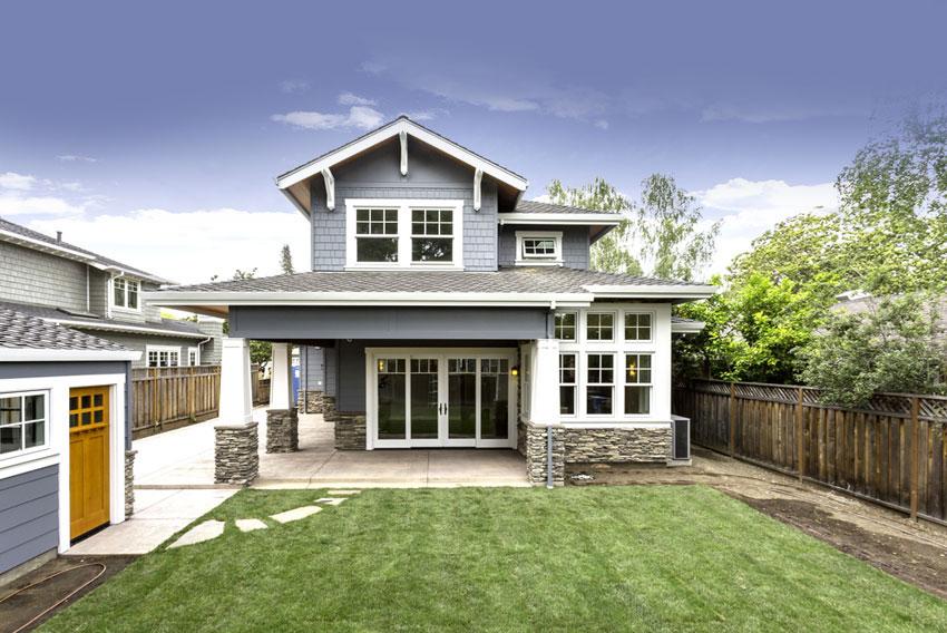 backyard exterior of home